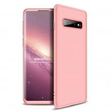 """Dviejų Dalių Plastikins Dėklas Apsaugantis Priekį Ir Galą """"Gkk 360"""" Samsung Galaxy S10 Plus Rožinis"""