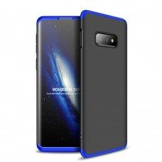 """Dviejų Dalių Plastikinis Dėklas Apsaugantis Priekį Ir Galą """"Gkk 360"""" Samsung Galaxy S10E Juodas-Mėlynas"""