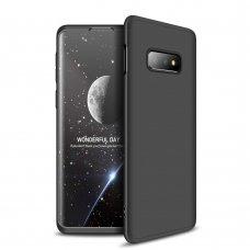 """Dviejų Dalių Plastikinis Dėklas Apsaugantis Priekį Ir Galą """"Gkk 360"""" Samsung Galaxy S10E Juodas"""