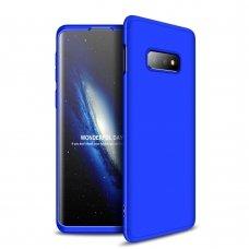 """Dviejų Dalių Plastikinis Dėklas Apsaugantis Priekį Ir Galą """"Gkk 360"""" Samsung Galaxy S10E Mėlynas"""