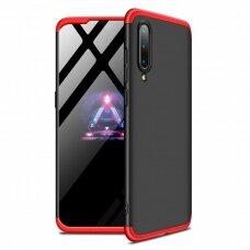 """Dviejų Dalių Plastikinis Dėklas Apsaugantis Priekį Ir Galą """"Gkk 360"""" Xiaomi Mi 9 Juodas-Raudonas"""