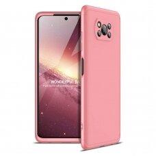 """PLASTIKINS DĖKLAS APSAUGANTIS PRIEKĮ IR GALĄ """"GKK 360""""  Xiaomi Poco X3 Nfc Rožinis"""