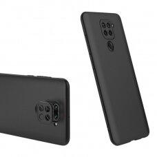 Dvipusis dėklas Gkk 360 Protection Case Front And Back Case Full Body Cover Xiaomi Redmi 10X 4G / Xiaomi Redmi Note 9 juodas