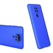 """Dviejų Dalių Plastikinis Dėklas Apsaugantis Priekį Ir Galą """"Gkk 360"""" Xiaomi Redmi 10X 4G / Xiaomi Redmi Note 9 Mėlynas"""