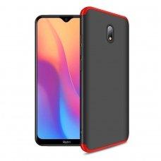 """Dvipusis plastikinis dėklas """"GKK 360 Protection"""" Xiaomi redmi 8A juodas-raudonas (qew24) UCS115"""
