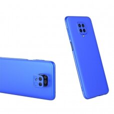 Dviejų Dalių Plastikinis Dėklas 'Gkk 360 Protection' Xiaomi Redmi Note 9 Pro / Redmi Note 9S Mėlynas