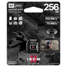 Goodram Microcard 256 GB micro SDHC SDXC UHS-I U3 V30 Atminties Kortelė SD adapteris Juodas (IR-M3AA-2560R12)