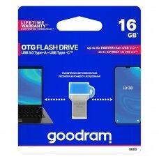 Goodram pendrive 16 GB USB 3.2 Gen 1 60 MB/s (rd) - 20 MB/s (wr) Atmintukas Mėlynas (ODD3-0160B0R11)