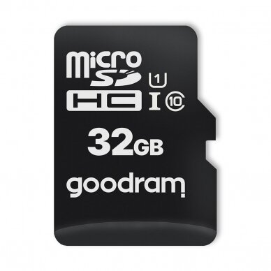 Goodram Microcard 32 GB micro SD HC UHS-I class 10 memory card, SD adapter (M1AA-0320R12) 2