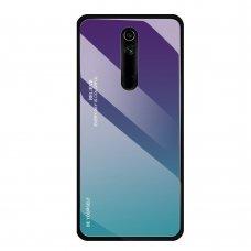 """Grūdinto stiklo dėklas nugarėlė """"Gradient Glass Durable"""" Huawei Mate 20 Lite žalias-violetinis (mkm86) UCS081"""
