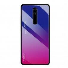 """Grūdinto stiklo dėklas nugarėlė """"Gradient Glass Durable"""" Huawei Mate 20 Lite rožinis-violetinis (mkm86) UCS081"""