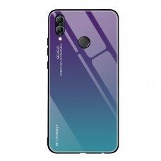 """Grūdinto Stiklo Dėklas Nugarėlė """"Gradient Glass Durable"""" Huawei P Smart 2019 Žalias-Violetinis"""