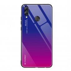 """Grūdinto stiklo dėklas nugarėlė """"Gradient Glass Durable"""" Huawei P Smart 2019 rožinis-violetinis (poe48) UCS089"""