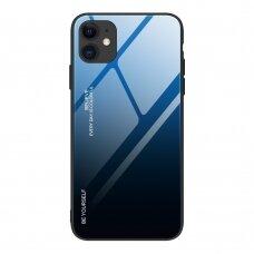 Grūdinto Stiklo Dėklas 'Gradient Glass Durable' Iphone 12 / 12 Pro Juodas-Mėlynas