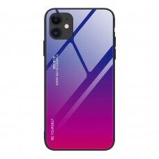 Grūdinto Stiklo Dėklas 'Gradient Glass Durable' Iphone 12 / 12 Pro Rožinis-Violetinis
