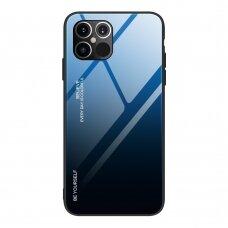 Grūdinto Stiklo Dėklas 'Gradient Glass Durable' Iphone 12 Pro Max Juodas-Mėlynas