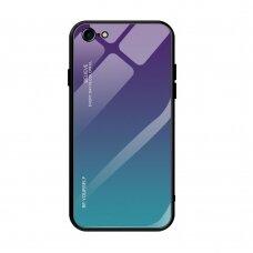 """Grūdinto Stiklo Dėklas Nugarėlė """"Gradient Glass Durable"""" Iphone 7/ Iphone 8/ Iphone Se 2020 Žalias-Violetinis"""