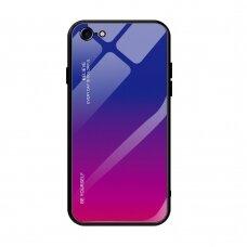 """Grūdinto Stiklo Dėklas Nugarėlė """"Gradient Glass Durable"""" Iphone 7/ Iphone 8/ Iphone Se 2020 Rožinis-Violetinis"""
