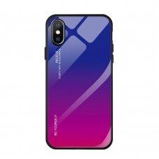 """Grūdinto stiklo dėklas nugarėlė """"Gradient Glass Durable"""" iPhone XS Max rožinis-violetinis (lxe17) UCS059"""