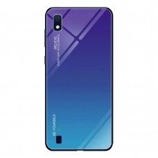 """Grūdinto Stiklo Dėklas Nugarėlė """"Gradient Glass Durable"""" Samsung Galaxy A10 Žalias-Violetinis"""