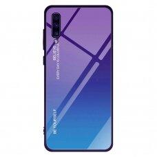 """Grūdinto stiklo dėklas nugarėlė """"Gradient Glass Durable"""" Samsung Galaxy A70 žalias-violetinis (pen81)"""