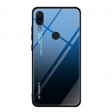 """Grūdinto stiklo dėklas nugarėlė """"Gradient Glass Durable"""" Xiaomi redmi Note 7 juodas-mėlynas (ofr49) UCS137"""