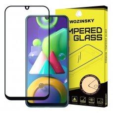 """Grūdintas Apsauginis Stiklas """"Wozinsky Pro+ 5D Full Glue""""  Samsung Galaxy M21 Juodas"""