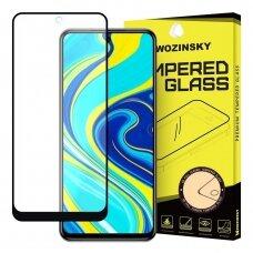 """Grūdintas Apsauginis Stiklas """"Wozinsky Pro+ 5D Full Glue""""  Xiaomi Redmi Note 9S Juodas"""
