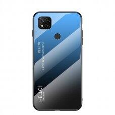 Grūdinto Stiklo Dėklas 'Gradient Glass Durable' Xiaomi Redmi 9C Mėlynas-Juodas