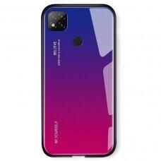 Grūdinto Stiklo Dėklas 'Gradient Glass Durable' Xiaomi Redmi 9C Rožinis-Violetinis