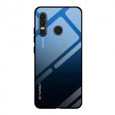 """GRŪDINTO STIKLO DĖKLAS NUGARĖLĖ """"GRADIENT GLASS DURABLE"""" Huawei P40 Lite E juodas-mėlynas UCS067"""