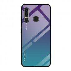 """GRŪDINTO STIKLO DĖKLAS NUGARĖLĖ """"GRADIENT GLASS DURABLE"""" Huawei P40 Lite E žalias-violetinis UCS067"""