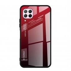 """GRŪDINTO STIKLO DĖKLAS NUGARĖLĖ """"GRADIENT GLASS DURABLE"""" Huawei P40 Lite / Nova 7i / Nova 6 SE juodas-raudonas UCS068"""