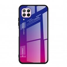 """GRŪDINTO STIKLO DĖKLAS NUGARĖLĖ """"GRADIENT GLASS DURABLE"""" Huawei P40 Lite / Nova 7i / Nova 6 SE rožinis-violetinis UCS068"""