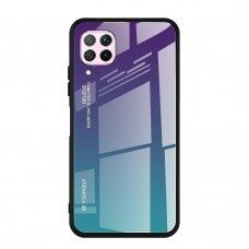 """GRŪDINTO STIKLO DĖKLAS NUGARĖLĖ """"GRADIENT GLASS DURABLE"""" Huawei P40 Lite / Nova 7i / Nova 6 SE žalias-violetinis UCS068"""