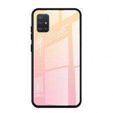 """Grūdinto Stiklo Dėklas Nugarėlė """"Gradient Glass Durable"""" Samsung Galaxy A51 Rožinis"""