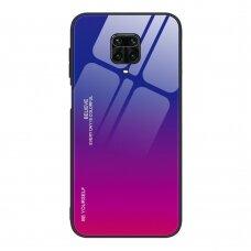 """Grūdinto Stiklo Dėklas Nugarėlė """"Gradient Glass Durable"""" Xiaomi Mi Note 9 Pro / Mi Note 9S Rožinis-Violetinis"""