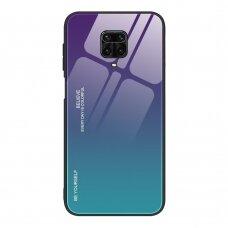 """Grūdinto Stiklo Dėklas Nugarėlė """"Gradient Glass Durable"""" Xiaomi Mi Note 9 Pro / Mi Note 9S Žalias-Violetinis"""