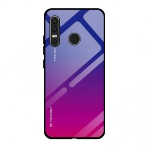 Gradient Glass Durable Cover with Tempered Glass Back Huawei P30 Lite pink-purple