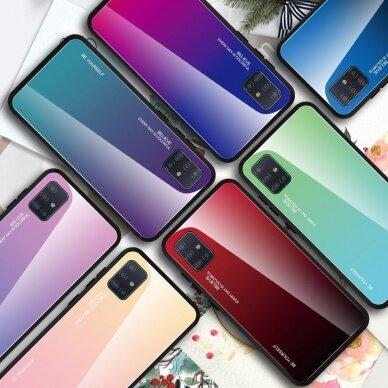 """GRŪDINTO STIKLO DĖKLAS NUGARĖLĖ """"GRADIENT GLASS DURABLE"""" Samsung Galaxy A51 rožinis-violetinis UCS025 4"""