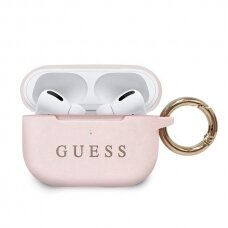 Guess GUACAPSILGLLP AirPods Pro cover jasnorožinis Silicone (ctz220)
