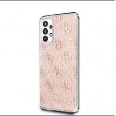 Originalus Guess dėklas GUHCA32PCU4GLPI A326 A32 5G blizgus rožinis 4G Glitter