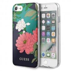 Originalus Guess dėklas Guhci8Pcutrfl01 Iphone 7/8/Se 2020 juodas N°1 Flower kolekcija