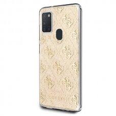 Dėklas Guess Originalus Guhcm21Pcu4Glgo M21 M215 auksinis Hard Case 4G Glitter