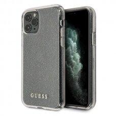Originalus Guess Dėklas Guhcn58Pcglsi Iphone 11 Pro Sidabrinis Hard Case Glitter