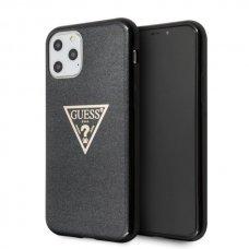 Originalus Guess Dėklas GUHCN58SGTLBK iPhone 11 Pro juodas hard case Glitter Triangle (zuk98)