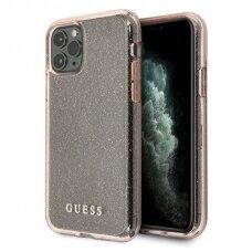ORIGINALUS GUESS DĖKLAS GUHCN65PCGLPI iPhone 11 Pro Max rožinis hard case Glitter USC056