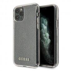 ORIGINALUS GUESS DĖKLAS GUHCN65PCGLSI iPhone 11 Pro Max sidabrinis hard case Glitter USC056