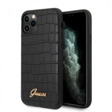 ORIGINALUS GUESS DĖKLAS GUHCN65PCUMLCRBK iPhone 11 Pro Max juodas Croco Collection USC056