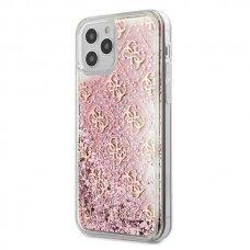 "ORIGINALUS GUESS DĖKLAS GUHCP12MLG4GSPG iPhone 12 6,1"" Rožinis 4G Liquid GlitterGuess / GUE000866"